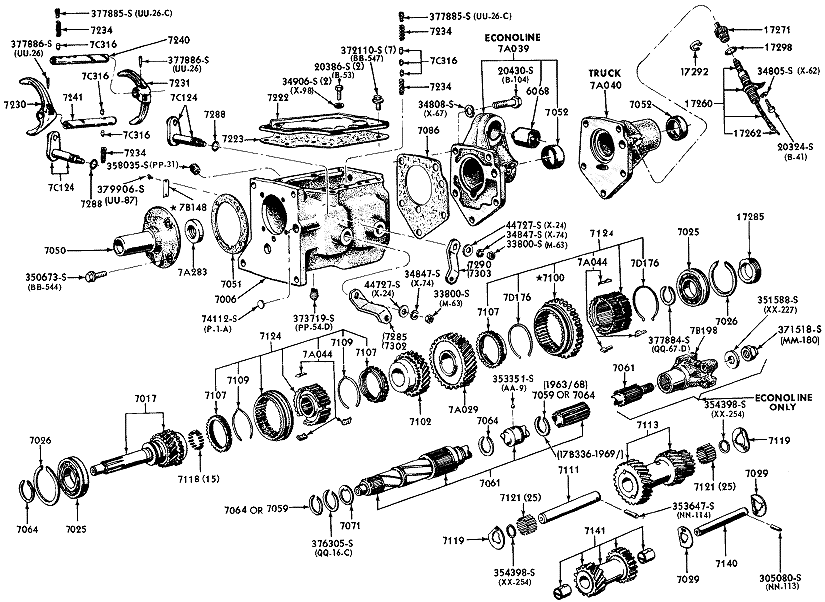 Ford Van Parts Diagram